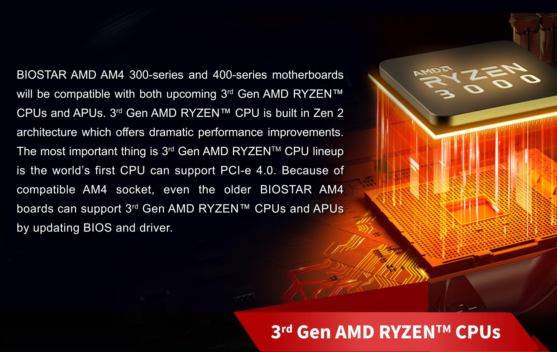 BIOSTAR Socket AM4 Motherboards All Ready for AMD Ryzen Raven Ridge APUs