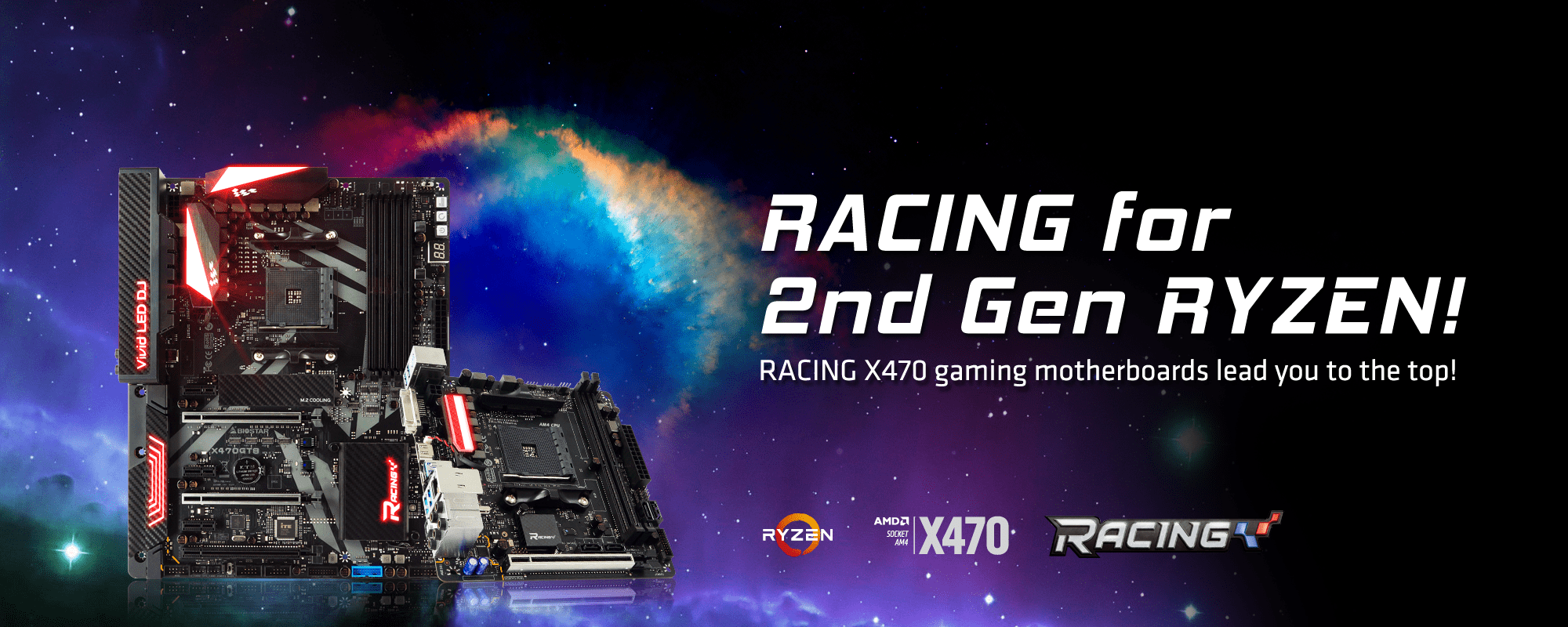 RACING X470 motherboards for 2nd Gen RYZEN lead you to the top