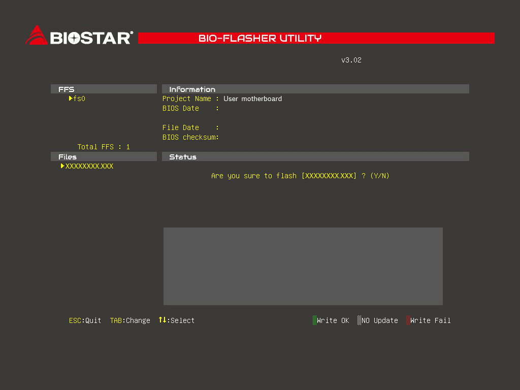 How to use USB device to update AMI BIOS for my Biostar motherboard