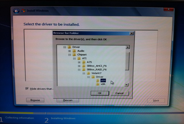How to make RAID 0 array to install Windows 7 64 bit for my