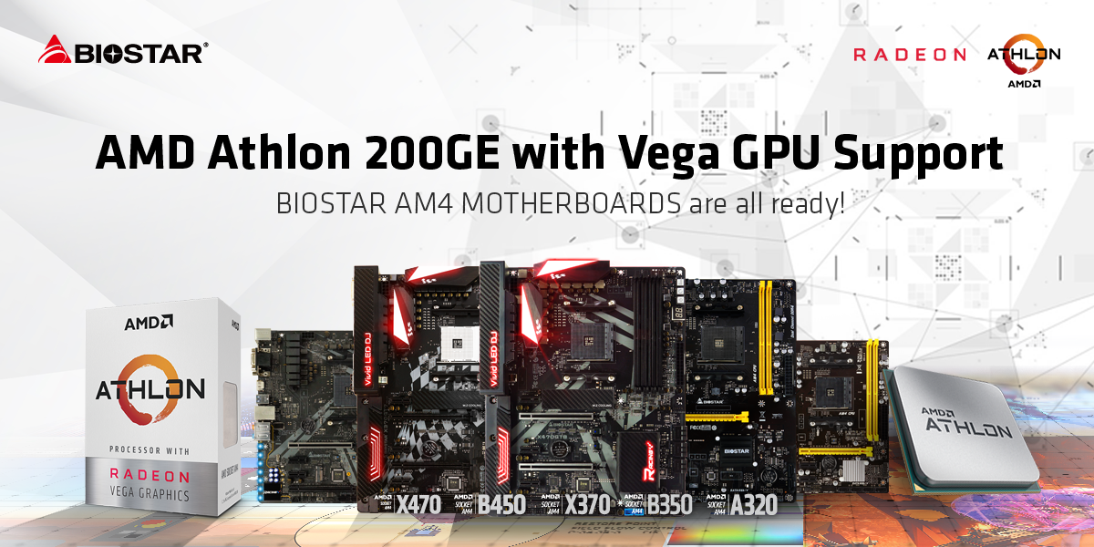 Biostar Am4 Motherboards Support Amd Athlon 200ge Processor