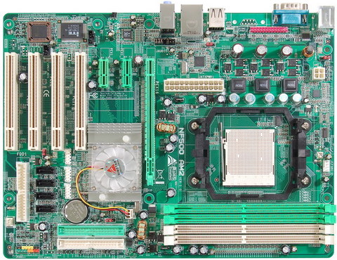 NF500 AM2 AMD Socket AM2 gaming motherboard