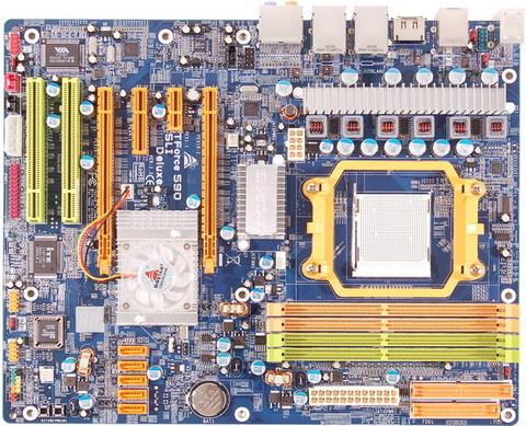 TForce 590 SLI Deluxe AMD Socket AM2 gaming motherboard