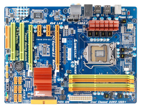 T5XE CFX-SLI INTEL Socket 1156 gaming motherboard