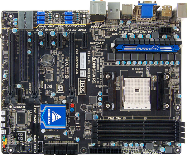 Hi-Fi A85X AMD Socket FM2 gaming motherboard