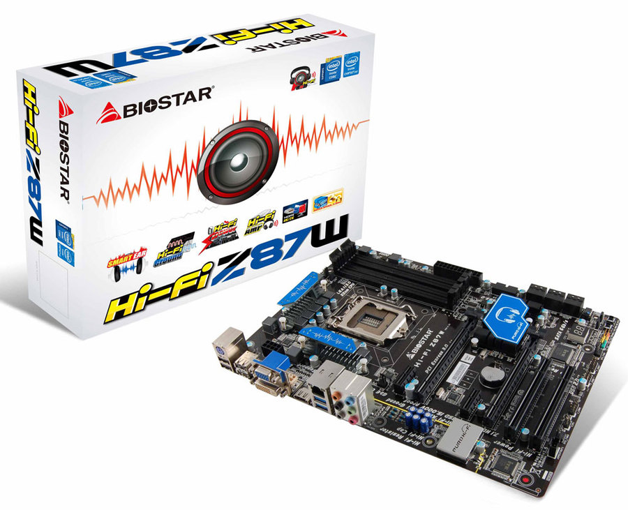 Hi-Fi Z87W INTEL Socket 1150 gaming motherboard