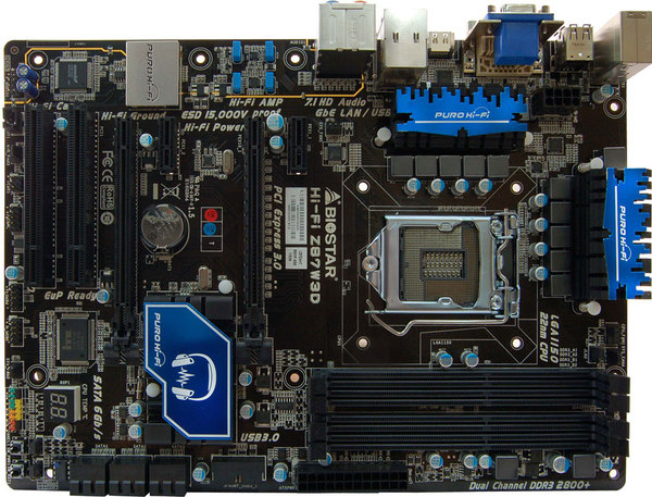 Hi-Fi Z87W 3D INTEL Socket 1150 gaming motherboard