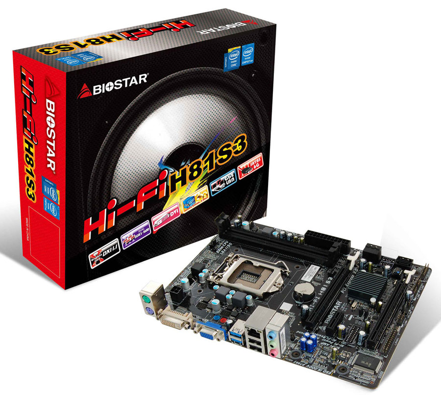 Hi-Fi H81S3 INTEL Socket 1150 gaming motherboard