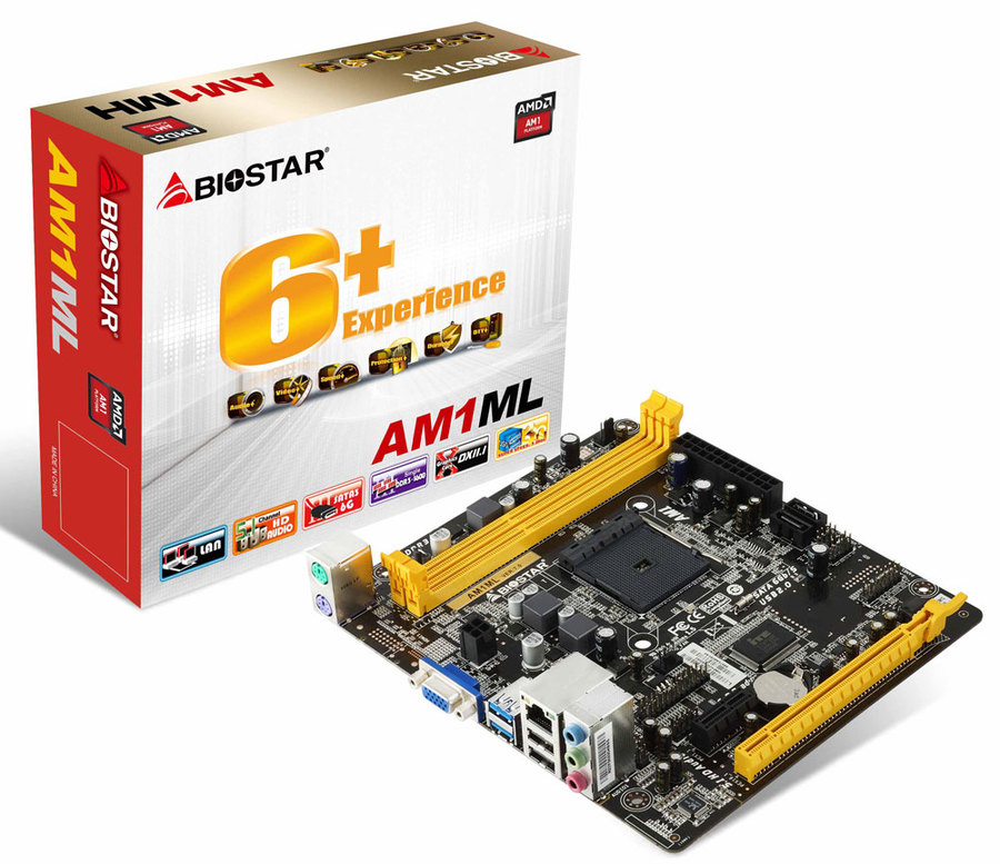 AM1ML AMD Socket AM1 gaming motherboard