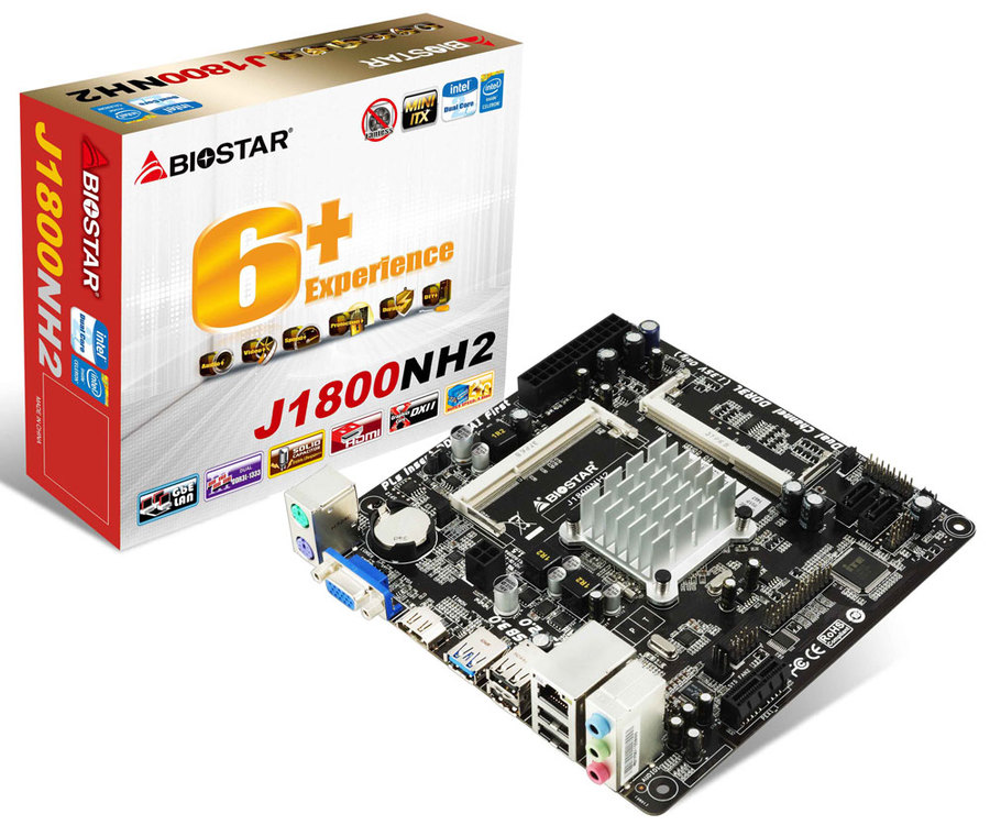 J1800NH2 INTEL CPU onboard gaming motherboard