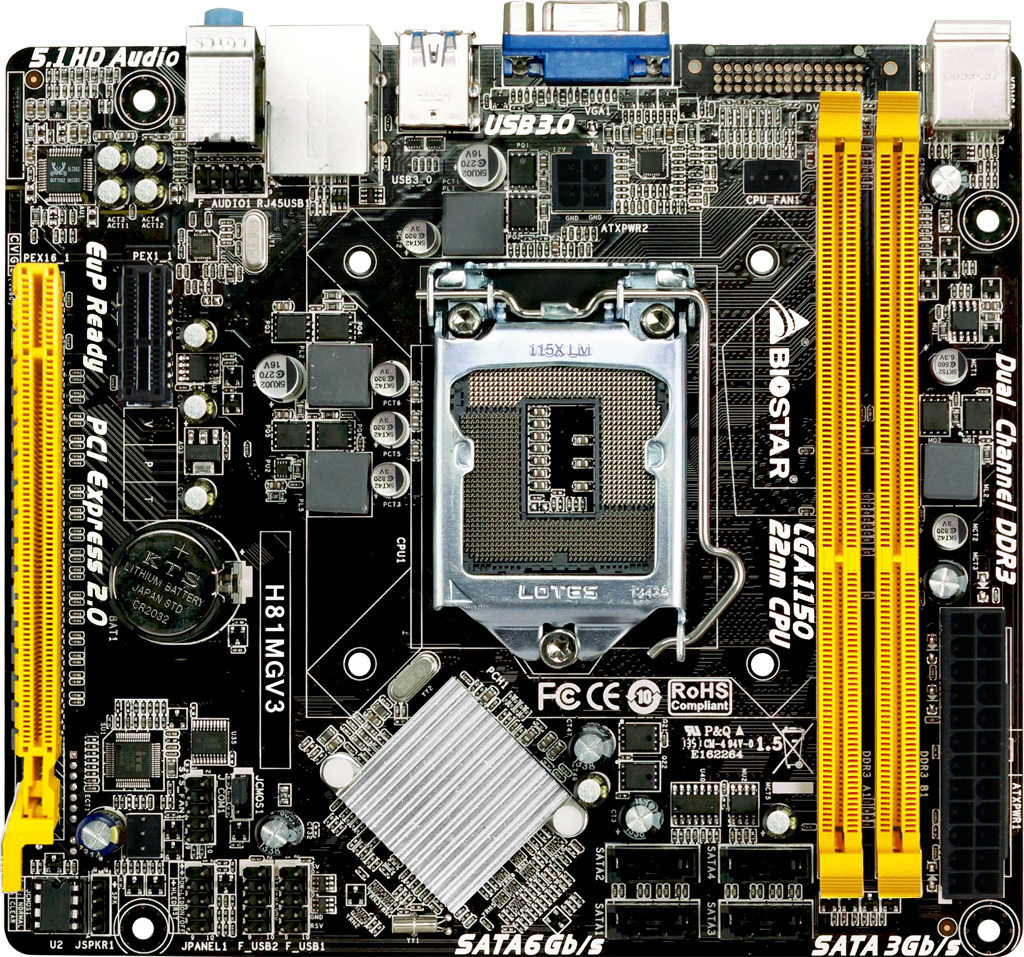 H81MGV3 INTEL Socket 1150 gaming motherboard