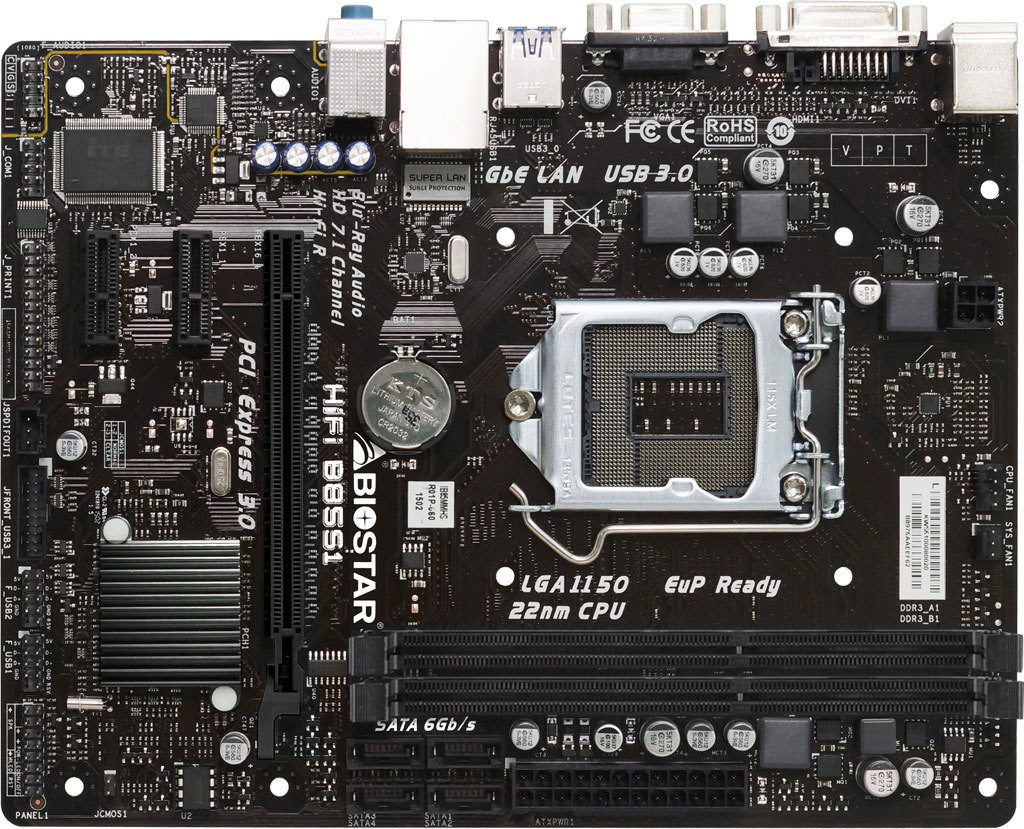 Hi Fi B85s1 Ver 6x Intel Processor Supported Gaming Motherboard Lga1150 G3240 310ghz Dual Core Socket 1150