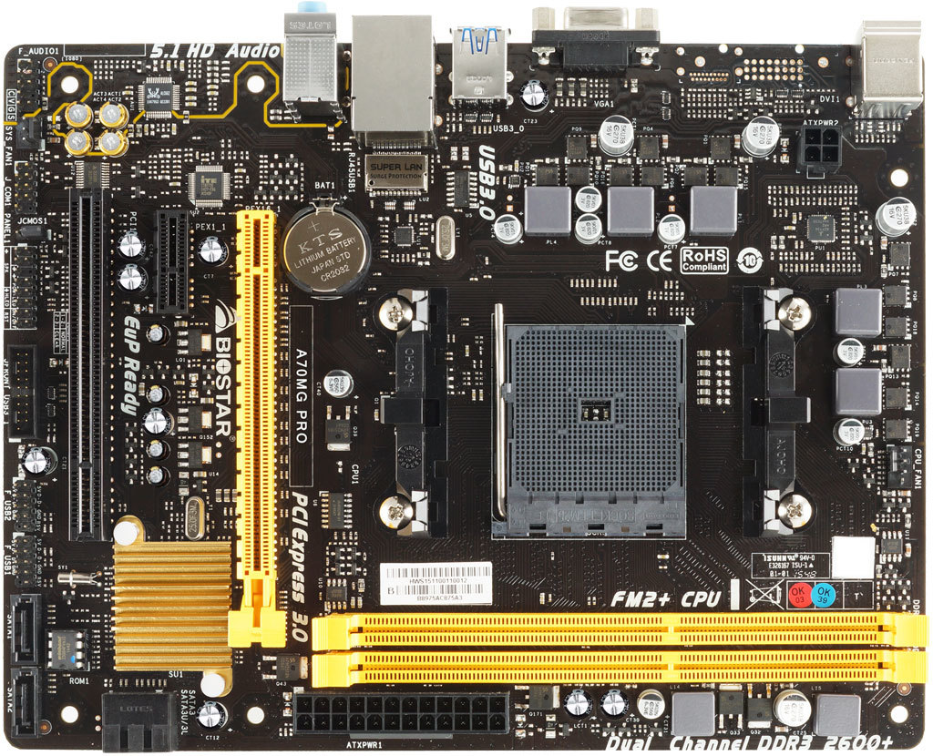 A70MG PRO AMD Socket FM2+ gaming motherboard