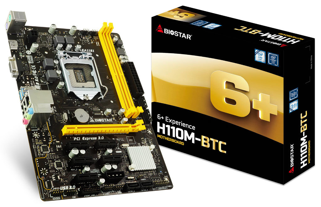H110M-BTC INTEL Socket 1151 gaming motherboard
