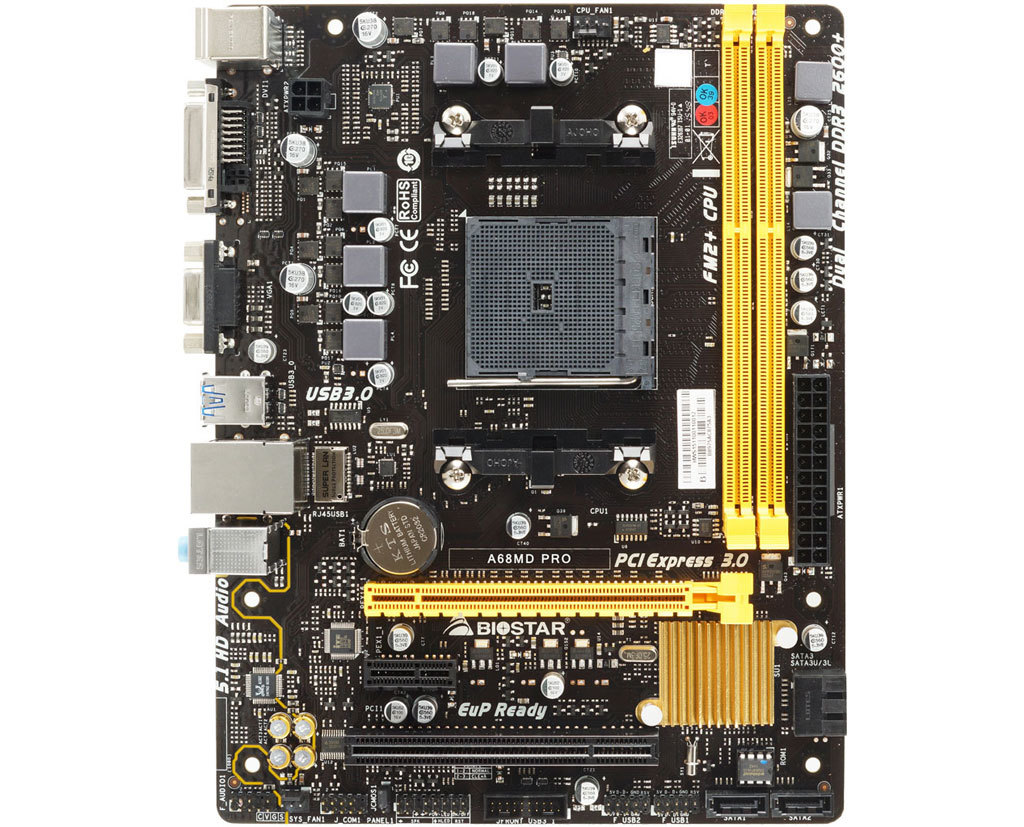 A68MD PRO AMD Socket FM2+ gaming motherboard