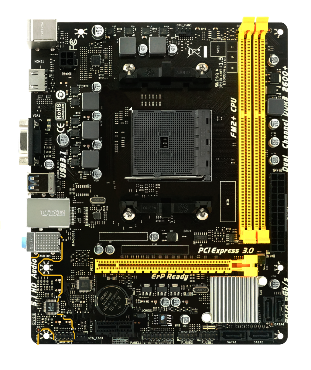 A68MHE AMD Socket FM2+ gaming motherboard