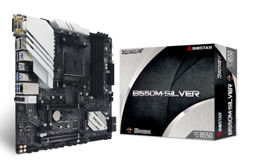 B550M-SILVER AMD ソケット AM4 gaming motherboard