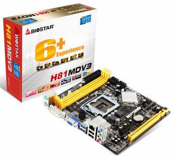 H81MDV3 INTEL Socket 1150 gaming motherboard