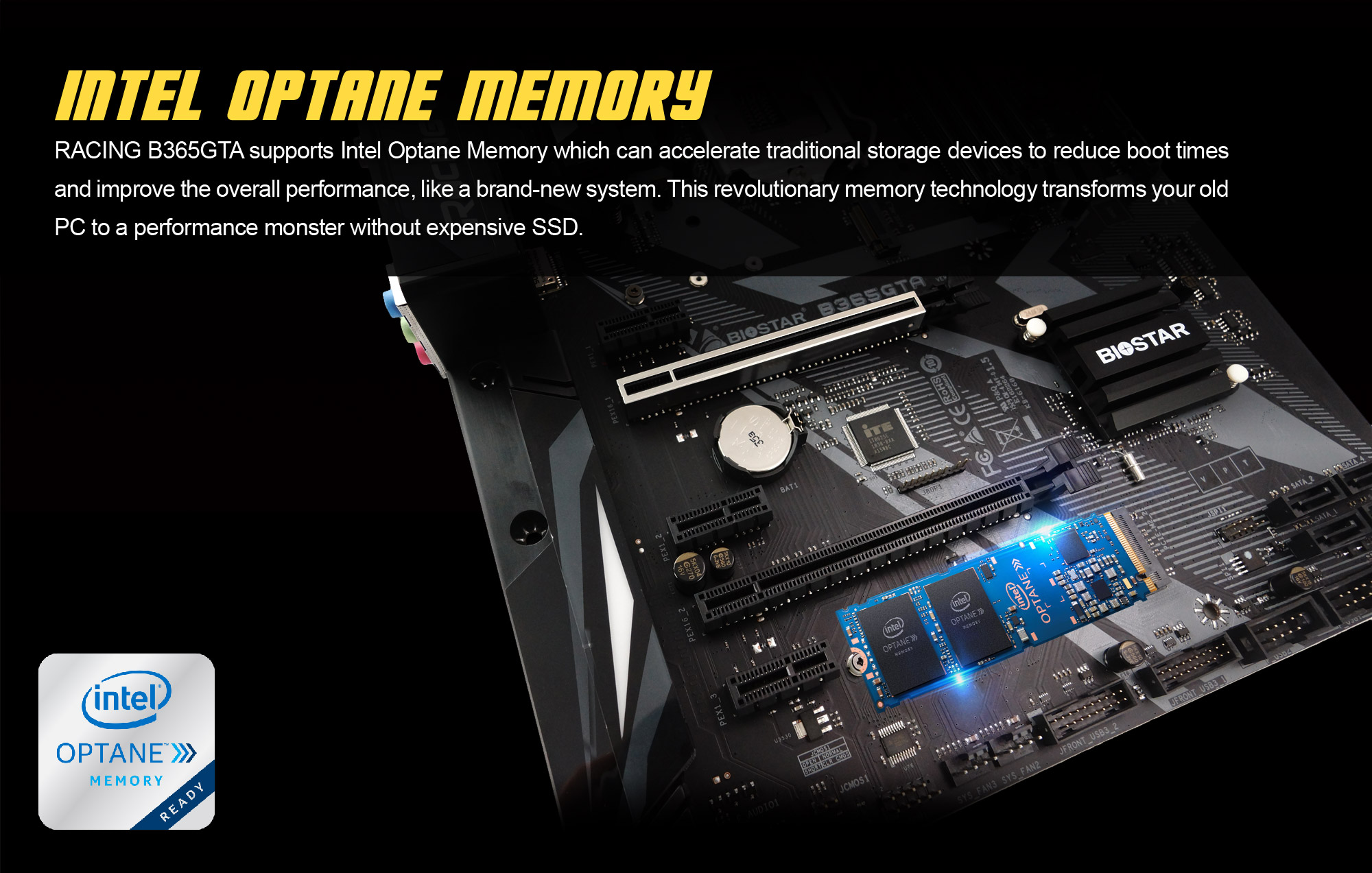 INTEL OPTANE MEMORY SUPPORT