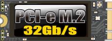PCI-e M.2 32Gb/s