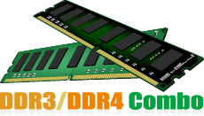 DDR3/DDR4 Combo
